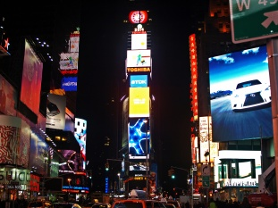 Around Midnight at Times Square